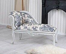 Chaiselongue Toile de Jouy Recamiere Sofa Rokoko
