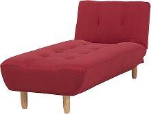 Chaiselongue Universal Rot Polsterbezug Holzfüße