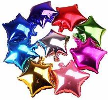 Chakil 10 Stück Folienballon Stern Ballons Helium
