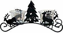 Chakil geschnitzter Weihnachtsbaum Hirsch
