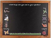 A2 625 x 450 mm Schwarz Holz Chalkboards UK Gerahmte Tafel