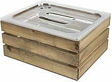 ChalkboardsUK Eiskübel mit Holzverkleidung,