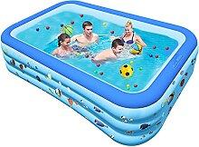 Chalpr Aufblasbare Pool Rechteckig 300x175x55cm,