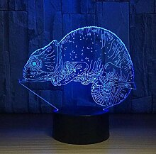 Chamäleon 3D Lampe Eidechse Tischlampe 16 Farben