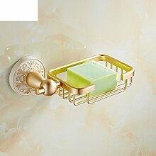 Champagne Gold Bad Seife Netzwerk/Badezimmer Regal/SOAPnet/Seifenschale/Bad-Accessoires-A