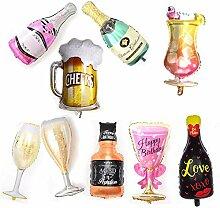 Champagner Flasche Ballons 11 Pack Kinder