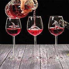 Champagner Rotwein Glas Tasse, 3 Stücke