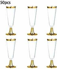 Champagnerflöten, Kunststoff, transparent,