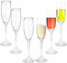 Champagnergläser-Set (6 Stück) Sektgläser,