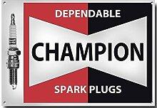 Champion Zündkerzen metall schild mit enamelled lackierung - 210MM x 285MM x 1MM