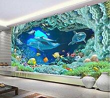 Chan-Mei 3D Wallpaper Benutzerdefinierte Wandbild Wand Aufkleber Hd Ozean Hintergrund Wandmalereien Foto 3D Wandbild Tapeten Hintergrundbild Tapete Fresko Wandmalerei 350cmX300cm