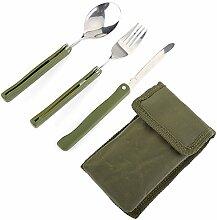 Changor Camping Gabel, Draussen Messer Gabel