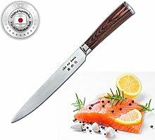 ChaNoHana Damast Sashimi Messer, Echtholz