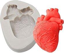 CHAOCHAO 2 stücke Halloween 3D Herzform