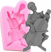 CHAOCHAO 3D Skeleton Schädel Form Kuchen