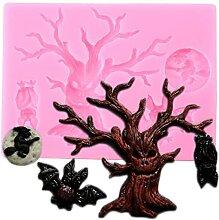 CHAOCHAO Halloween Baum Rand Silikon Mold Eule