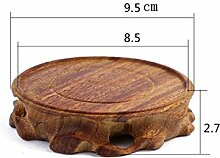 CHAORENHP Blume Regal Europäische Einfache Holz Circular Pflanze Dish Blumentopf Basis Kistler Base Dekoration Base Vase Base ( Farbe : I )