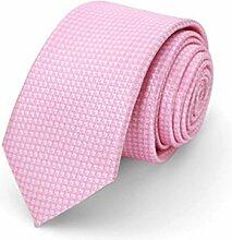 CHAOXIAN Klein Krawatte Männer Geschenk Box Koreanisch Eng Ausführung Professionel Kleid Geschäft Freizeit Britisch Hochzeit Bräutigam Mehrfarbig , 6 * 150cm ( Farbe : Pink Plaid )