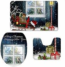 CHAQLIN Teppich, Weihnachtsmotiv, Memory-Schaum,