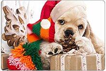 CHAQLIN Teppich, Weihnachtsmuster, leicht zu
