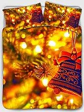 chaqlin Weihnachtsdeko, Quilts Bettwäsche-Set,
