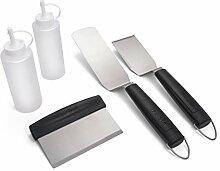Char-Broil 4347486W04 Grillbesteck Set, Silber