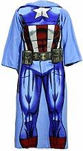 Character Cartoons–Plaid Decke Winter mit Ärmeln–Full Print–Kinder–NEU Original 720–27x  Captain America