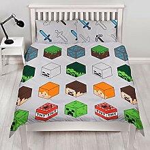 Character World Minecraft Pixel doppel Bettbezug
