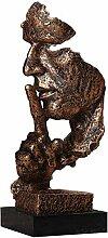 Charakter-Skulptur, Harz-Skulptur-Stille ist