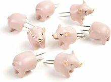 Charcoal Companion CC5008 Schweinchen Mais-Halter, 3,1 x 9,8 x 19,1 cm, rosa