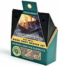 Charcoal Companion Gas-Grill mit Räucherbox und