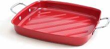 Charcoal Companion rot N/S Grill Pfanne W/Draht Griffe (quadratisch) CC3916