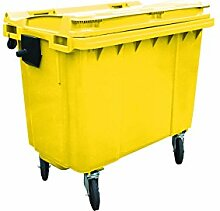 Charles Bentley 660 Liter Flachdeckel Wheelie Bin