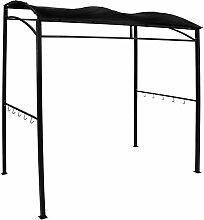 Charles Bentley - Grill-Pavillon für Garten & Terrasse - rechteckig - Stahlrahmen - Schwarz
