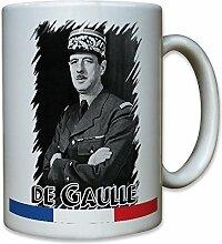 Charles de Gaulle Präsident Frankreich französischer General Staatsmann Portrait Foto - Tasse Becher Kaffee #9992