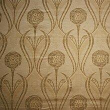 Charles Rennie Mackintosh Stil Stoff–Chenille Rosen Putty, beige, 10 x 14 cm sample