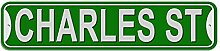 Charles Schild–Kunststoff Wand Tür Street Road Stecker Name, plastik, grün, Stree
