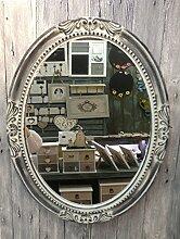 Charmanter Landhaus Holz Wandspiegel 18-2 Spiegel antik Garderobenspiegel Flurspiegel Barock