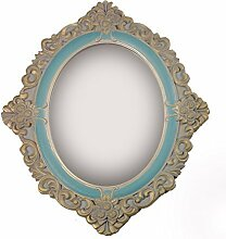 Charmanter Landhaus Holz Wandspiegel Spiegel antik Garderobenspiegel Flurspiegel Barock