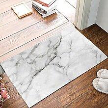 CHARMHOME Fußmatte mit weißer Marmorstruktur,