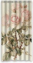 "Charming rosa Rosen Wasserdicht Badezimmer Polyester Duschvorhang 36""""x72"""" (90cm x 183cm)"