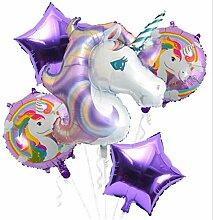 Chasiroma Einhorn-Luftballon-Set Einhorn Party