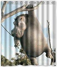 CHATAE Bad Hippo weiß Vorhang für die Dusche