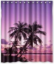 CHATAE Beach Beautiful Pink Sunset Custom