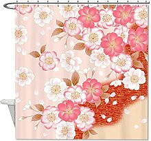 CHATAE Pink Sakura Cherry Bad Polyester