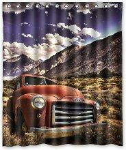 CHATAE Rot Vintage Camper und Truck Muster