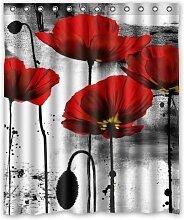 CHATAE Vintage Rot Poppy Blume Tinte Malerei Art