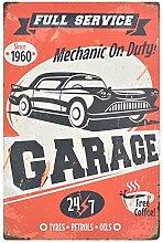 Chaufly Retro Auto Metall Eisen Poster Zeichen