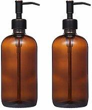 CHBKT Seifenspender, 2 Stück, Braun Ölgeriebener