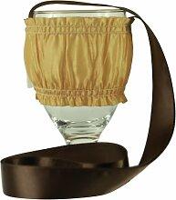 chc-beverly Hills biibii, High End Wein Halskette Halter SET aus 5,1cm Crushed gelb und braun Schleife klein